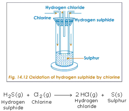 oxidation of hyrogen sulphide with chlorine