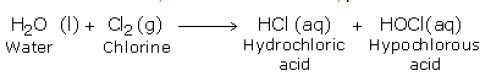 reaction of chlorine with water