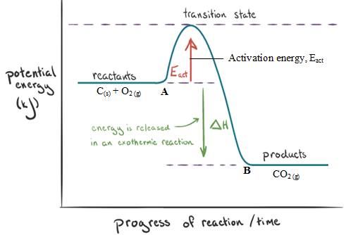exothermic reaction activation energy