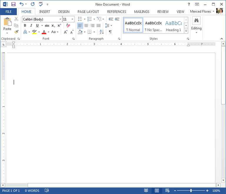 word blank document