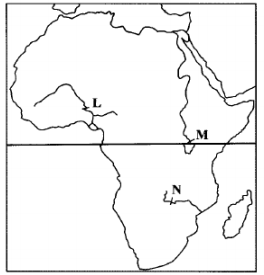 map of africa kcse 2010
