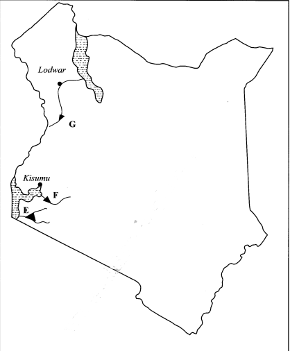map of kenya kcse 2015 goegraphy