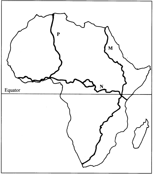 Map of Africa KCSE 2015